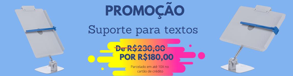 Promoção suporte de texto