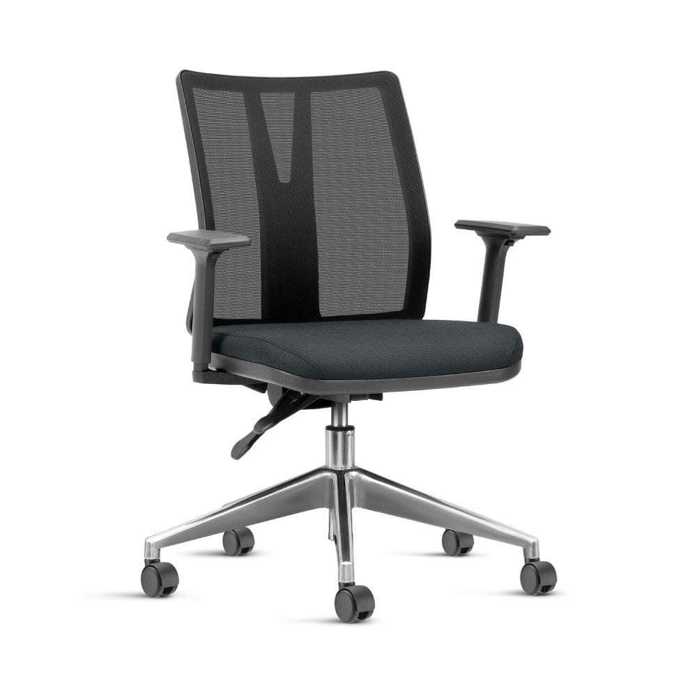 Cadeira Torres Addit preta - Base piramidal alumínio