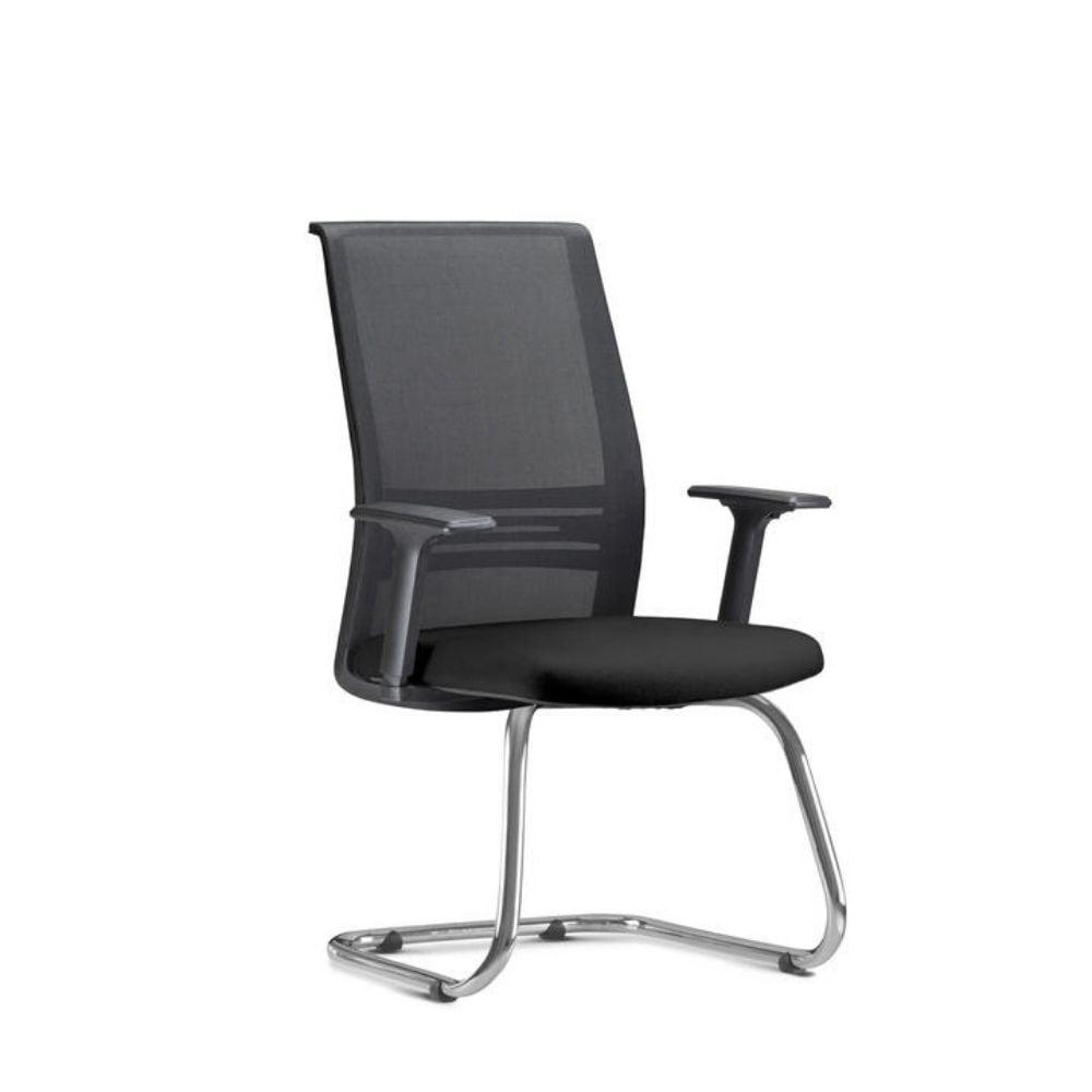 Cadeira Torres Agile fixa - estrutura cromada