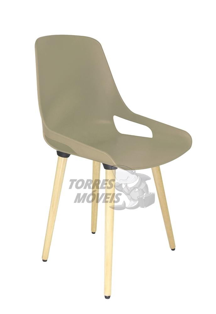 Cadeira Ella - Pé Madeira