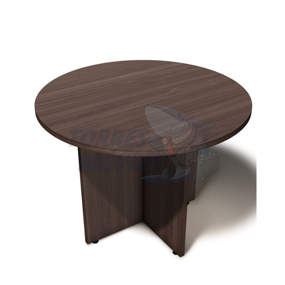 mesa reunião 25mm redonda pé painel - torres case