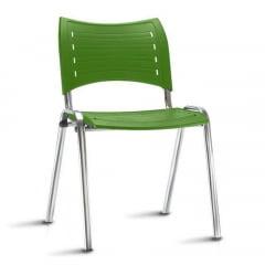 Kit com 5 cadeiras Torres Iso - Pé cromado