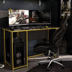 Mesa Gamer Singapura preta/Amarelo
