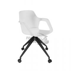 Cadeira Ella com braço - base giratória
