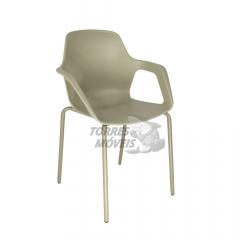 cadeira Ella - Pé tubular - com braço