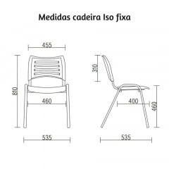 Cadeira Torres Iso - Pé cromado