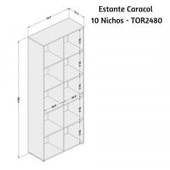 Estante Caracol 10 Nichos - TOR 2480