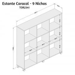 Estante Caracol 9 nichos - TOR2341