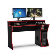 Mesa gamer Fremont preto/ vermelho - TOR180693VM