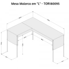 Mesa de canto Maiorca - Med. 1,04 x 1,35 TOR180095