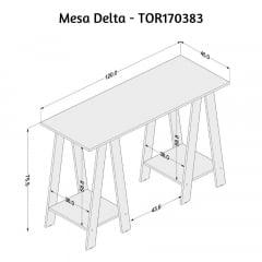 Mesa Delta - Med. 1,20 x 0,45 - TOR170383