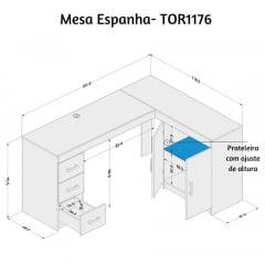 Mesa Espanha - Med. 1,51 x 1,16 - TOR1176