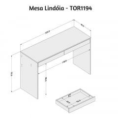 Mesa Lindóia - Med. 1,20 x 0,45 - TOR1194