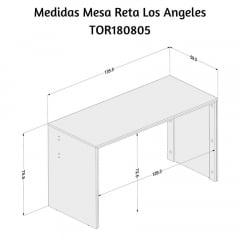 Mesa Los Angeles Reta - Med. 1,25 x 0,59 - TOR180805