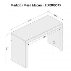 Mesa Macau -Med. 1,22 x 0,52 - TOR180573