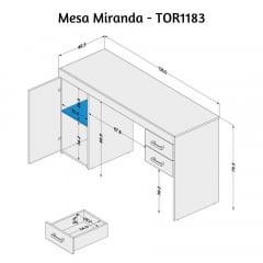 Mesa Miranda - Med. 1,35 x 0,46 - TOR1183