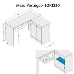 Mesa Portugal - Med. 1,20 x 1,07 - TOR1230